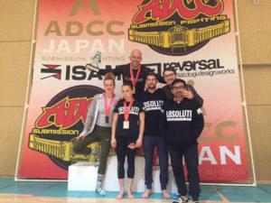 adcc team podium